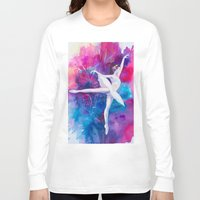 ballerina Long Sleeve T-shirts featuring Ballerina by Slaveika Aladjova