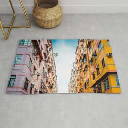 Residential apartment in old district, Hong Kong Rug