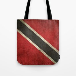 Old and Worn Distressed Vintage Flag of Trinidad and Tobago Tote Bag