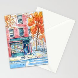 Bookstore in Manhattan | New York City | NY Watercolor Stationery Cards