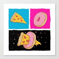 Pizza & Donut Canvas Print