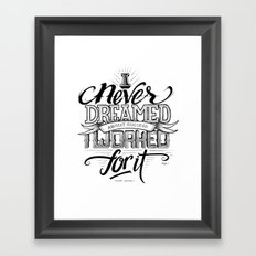 Quote - Lauder - Typedesign Framed Art Print