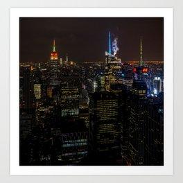 NYC Skyline View Art Print