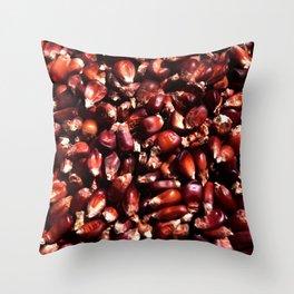 Red corn Throw Pillow