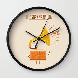 Grammarphone Wall Clock