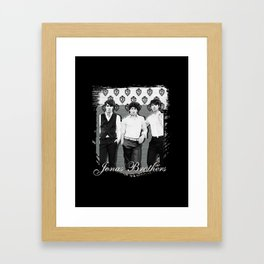 JONAS BROTHERS OLD SCHOOL Framed Art Print