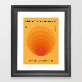 Sun Spiral   Bauhaus I Framed Art Print
