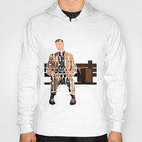 forrest Hoodies featuring Forrest Gump by Ayse Deniz