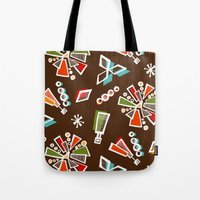 solar system Tote Bags featuring Solar System by Holly Helgeson