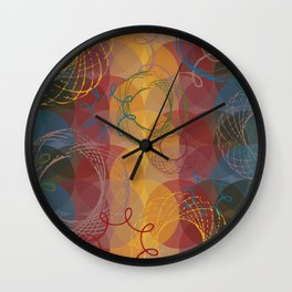 Vintage Spirals Wall Clock