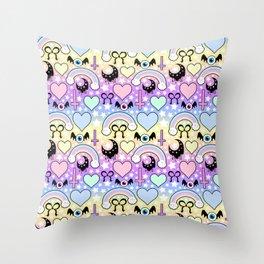 Pastel Goth Collage Throw Pillow