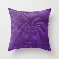 renaissance Throw Pillows featuring Renaissance Purple by Charma Rose