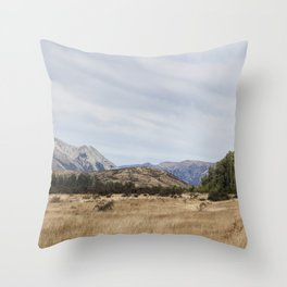 New Zealand country side Throw Pillow
