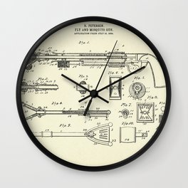 Fly and Mosquito Gun-1905 Wall Clock