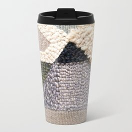 Mountain Tops Rug Hooked Art Metal Travel Mug