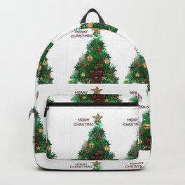 Afro Christmas Tree Design Cards & Gifts Backpack