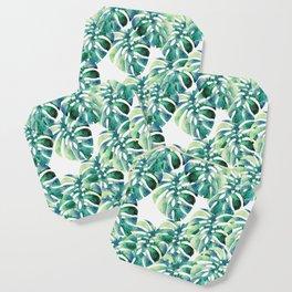 Monstera Pattern Green Coaster