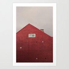 Red Building Art Print