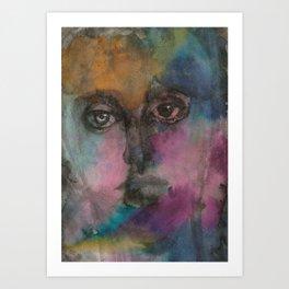 Watercolor Man Art Print