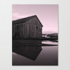 Warehouse Reflection in Pink Canvas Print