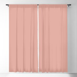 Soft Blush Clay Pink Solid Blackout Curtain