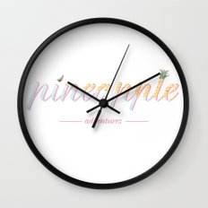 Pineapple Adventures Wall Clock