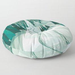 Winter Slope Floor Pillow