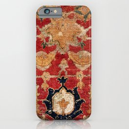 Indo Esfahan Central Persian Rug Fragment Print iPhone Case