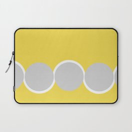 Gray Circles in the Sun Laptop Sleeve