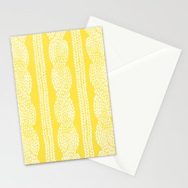 Cable Row Yellow Stationery Cards