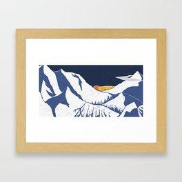 Mountain mysteries Framed Art Print