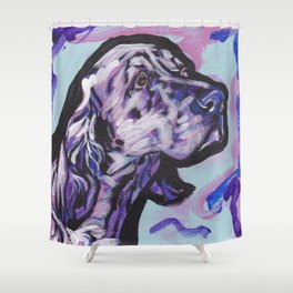 fun ENGLISH SETTER bright colorful Pop Art painting by Lea Shower Curtain