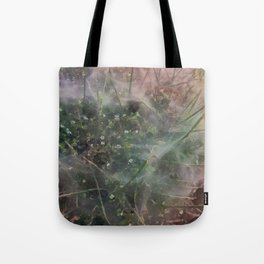 Spider Haze on Shrub Tote Bag