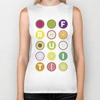 fruit Biker Tanks featuring Fruit by veronica's site