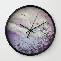 flight Wall Clocks featuring FLIGHT by ALLY COXON