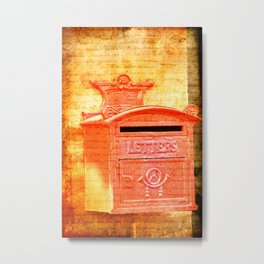 Please Mr Postman Metal Print