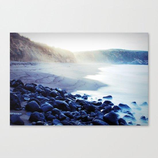 When the ocean meets the island Canvas Print