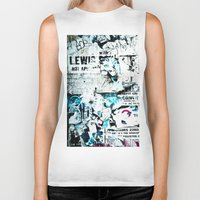 movie posters Biker Tanks featuring posters by Renee Ansell