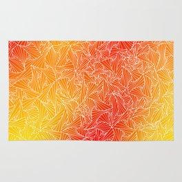 Red Yellow Geometric Waltz Rug