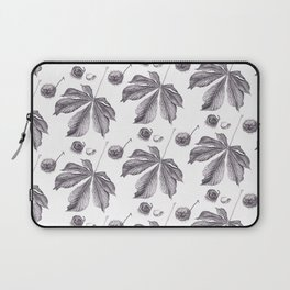 Floral pattern horse-chestnut Laptop Sleeve