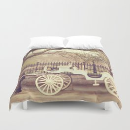 New Orleans Carriage Ride Duvet Cover