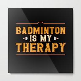 Badminton Shuttlecock Racket Sport Hobby Gift Metal Print