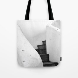 Black and White Stairs Tote Bag