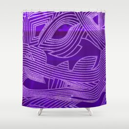 Symphony of Purple Sky Shower Curtain