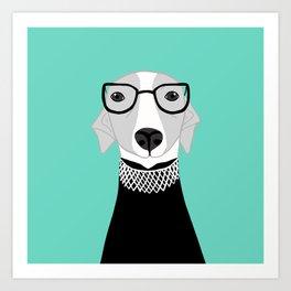 Ruth Bader Ginsburg Greyhound Art Print