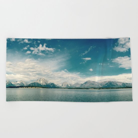 Nautical Tetons Beach Towel