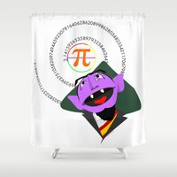 pi Shower Curtains featuring Count Pi by tuditees