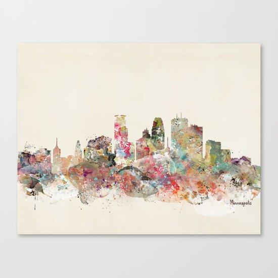 minneapolis city skyline Canvas Print