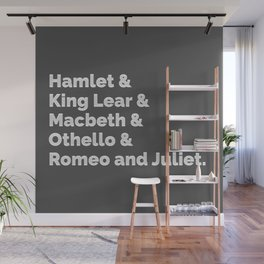 Shakespeare Plays I Wall Mural