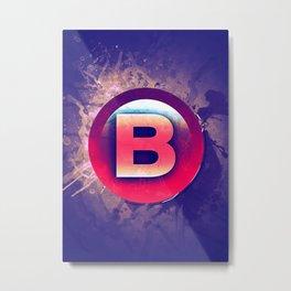 B Xbox Button Metal Print
